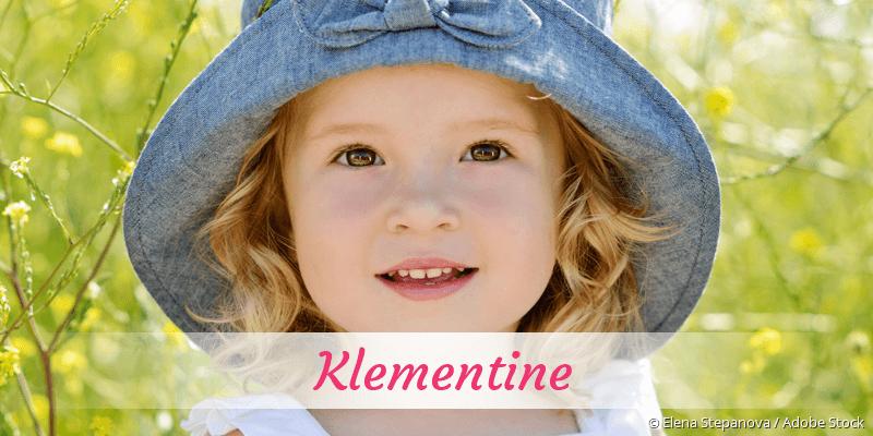 Name Klementine als Bild