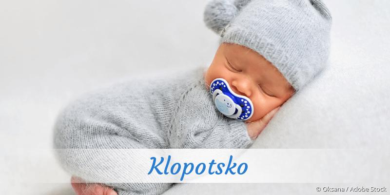 Name Klopotsko als Bild