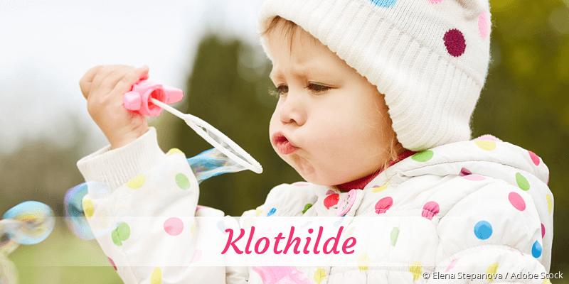 Name Klothilde als Bild