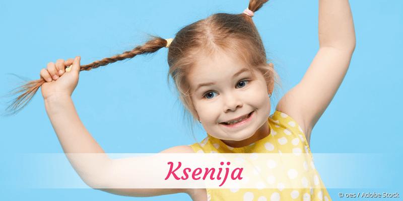 Name Ksenija als Bild