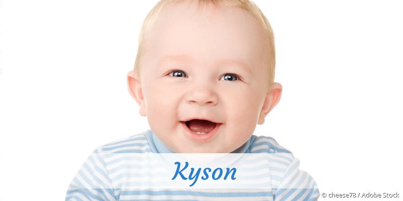 Name Kyson als Bild
