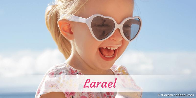 Name Larael als Bild