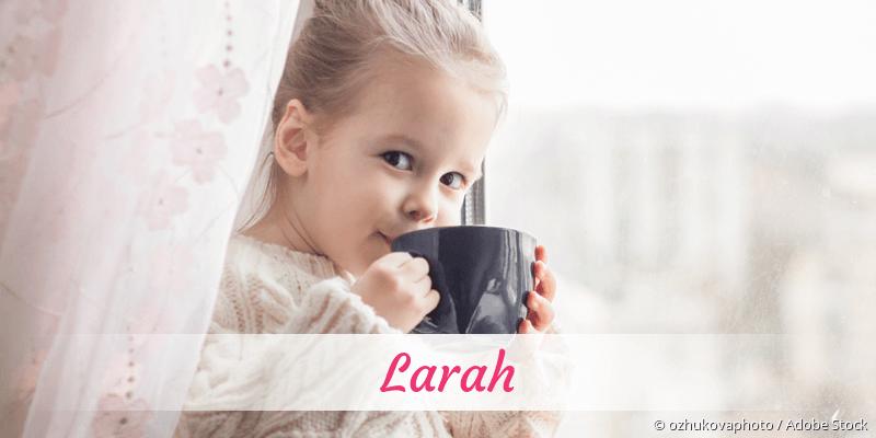 Name Larah als Bild