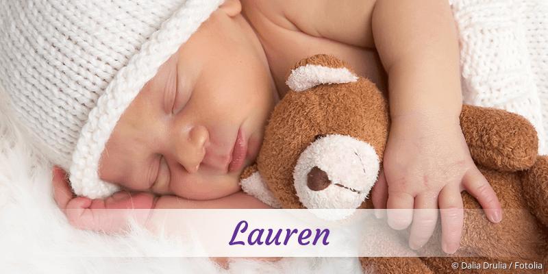 Name Lauren als Bild