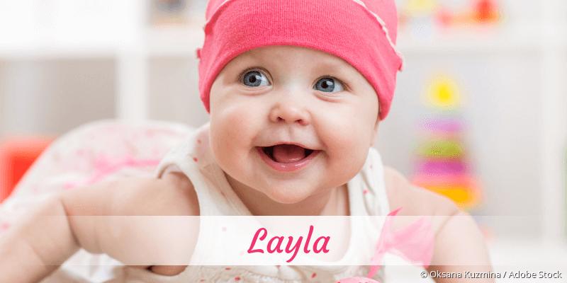 Name Layla als Bild