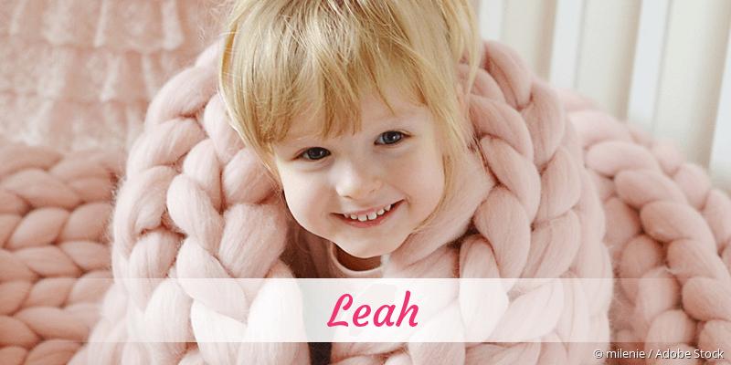 Name Leah als Bild