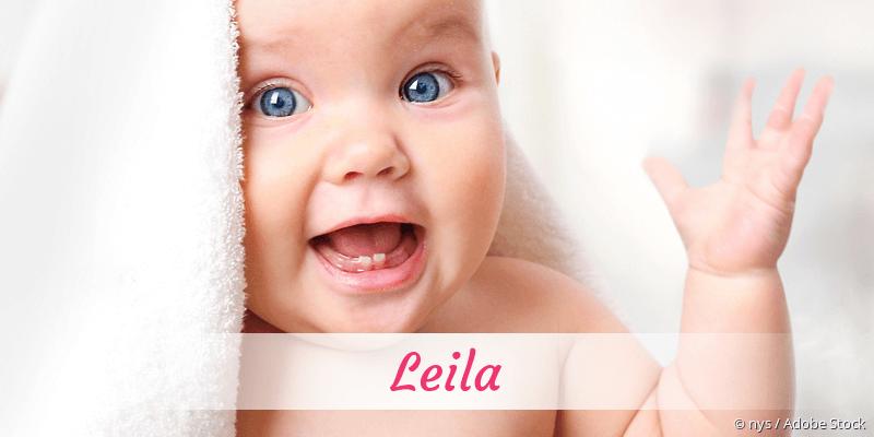 Name Leila als Bild