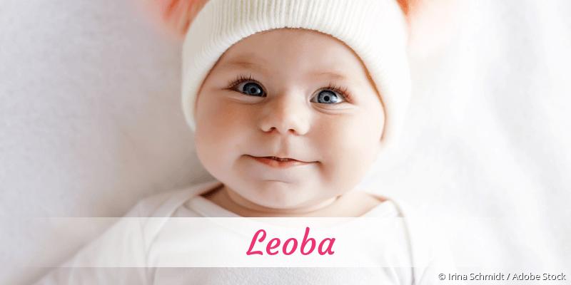 Name Leoba als Bild