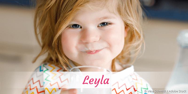 Name Leyla als Bild
