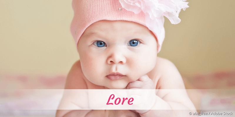 Name Lore als Bild