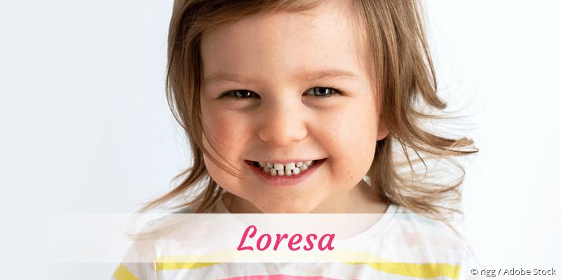 Name Loresa als Bild