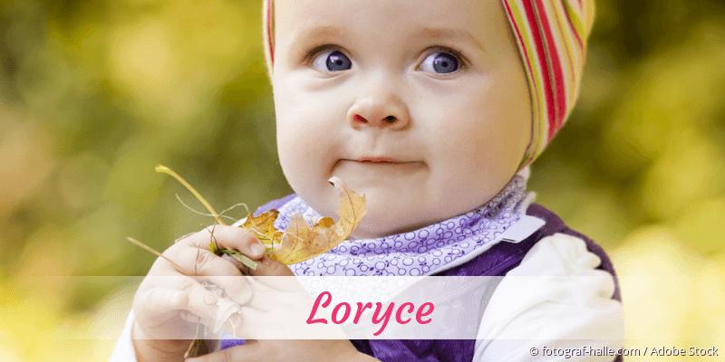 Name Loryce als Bild