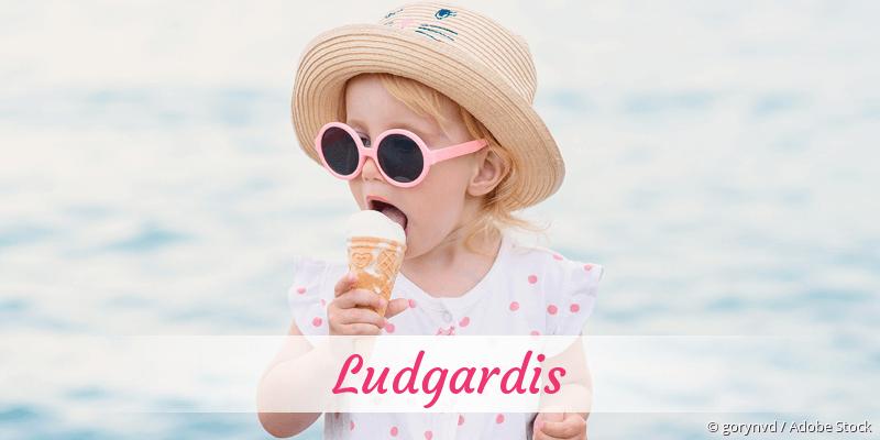 Name Ludgardis als Bild