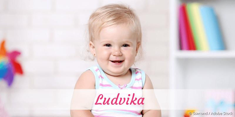 Name Ludvika als Bild