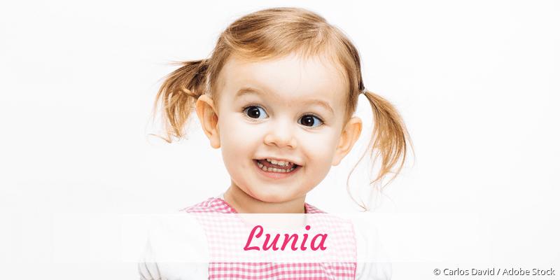Name Lunia als Bild