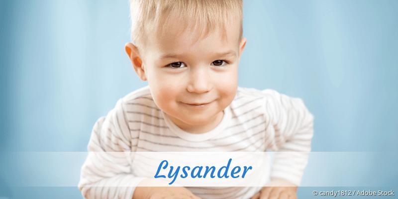 Name Lysander als Bild