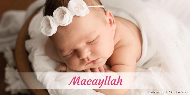 Name Macayllah als Bild