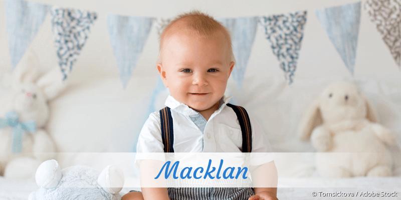 Name Macklan als Bild