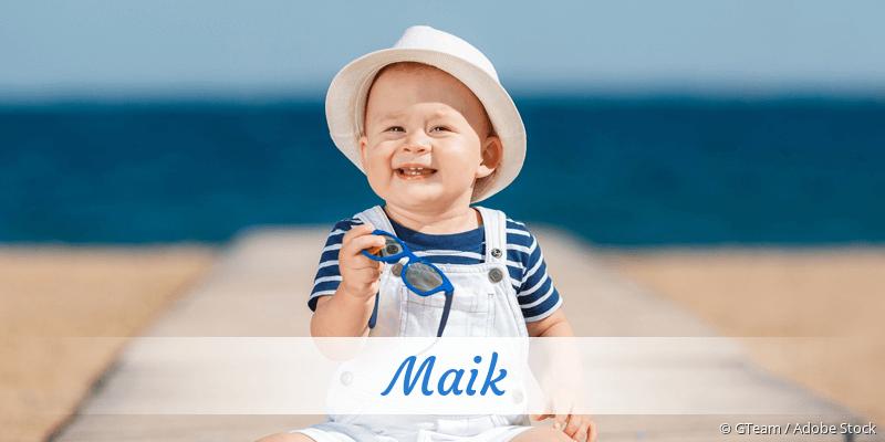 Name Maik als Bild