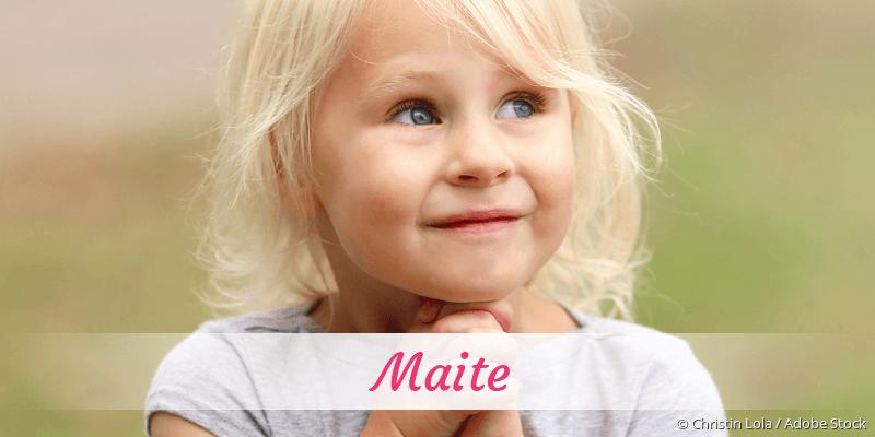 Name Maite als Bild
