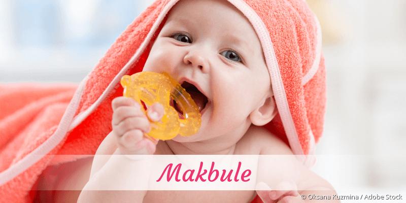 Name Makbule als Bild