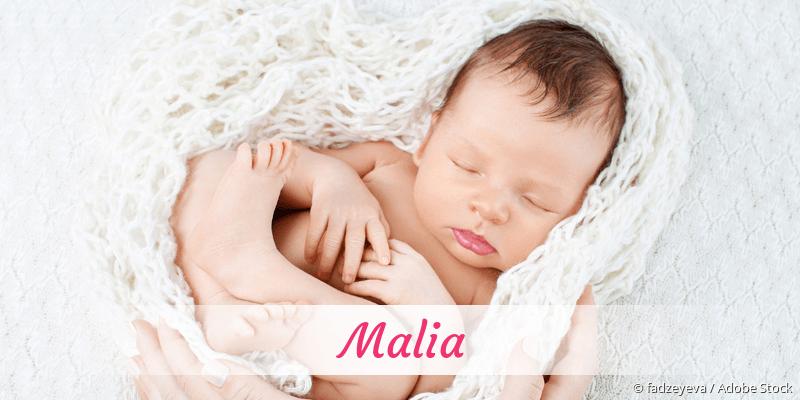 Name Malia als Bild