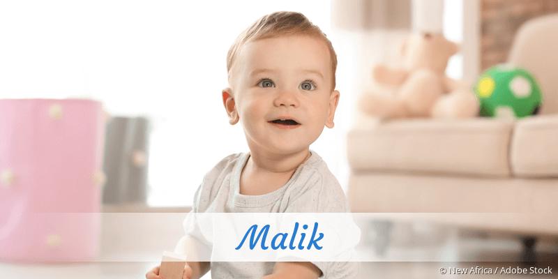 Name Malik als Bild