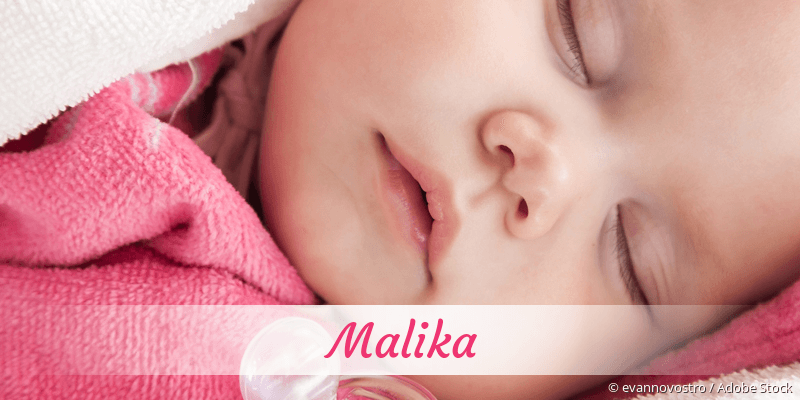Name Malika als Bild