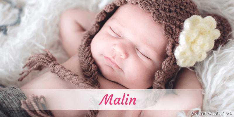 Name Malin als Bild
