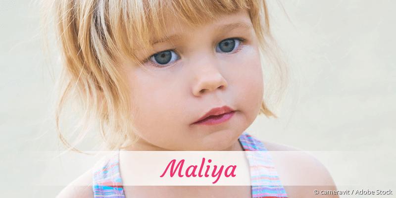 Name Maliya als Bild