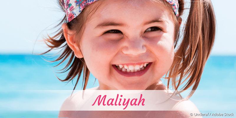Name Maliyah als Bild