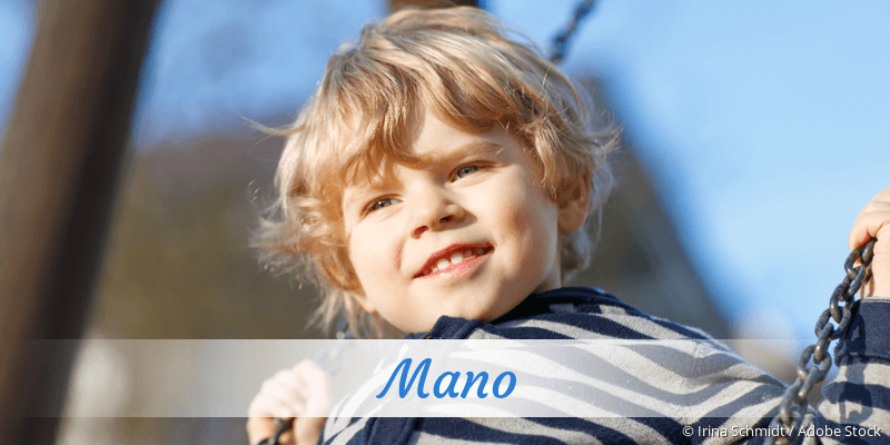 Name Mano als Bild