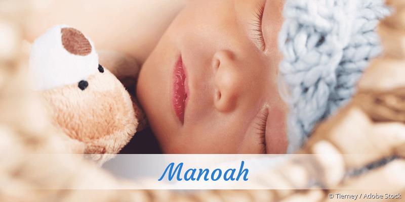 Name Manoah als Bild