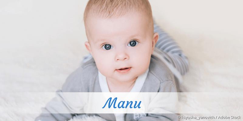 Name Manu als Bild