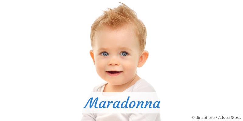 Name Maradonna als Bild