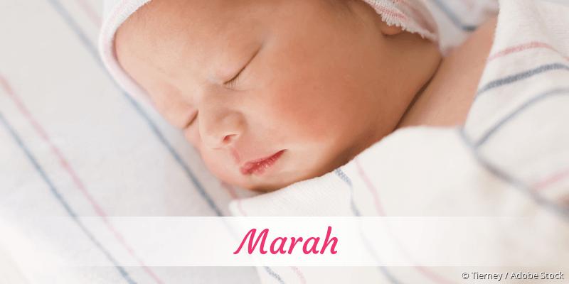 Name Marah als Bild