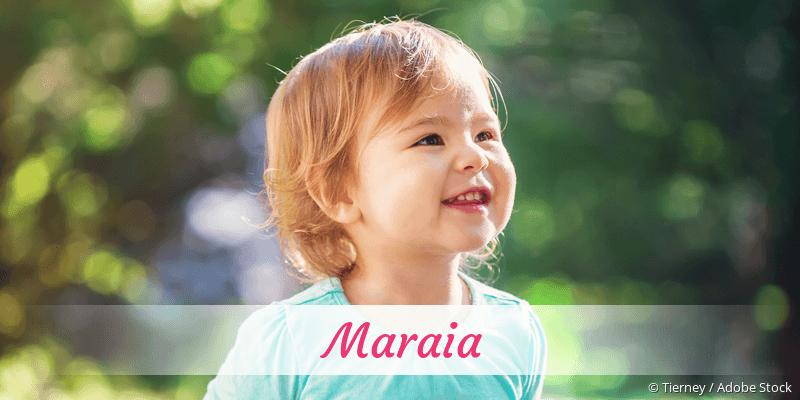 Name Maraia als Bild