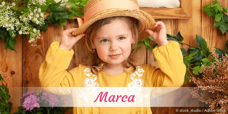 Name Marca als Bild