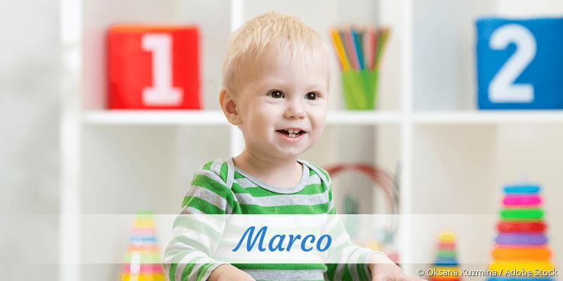 Name Marco als Bild