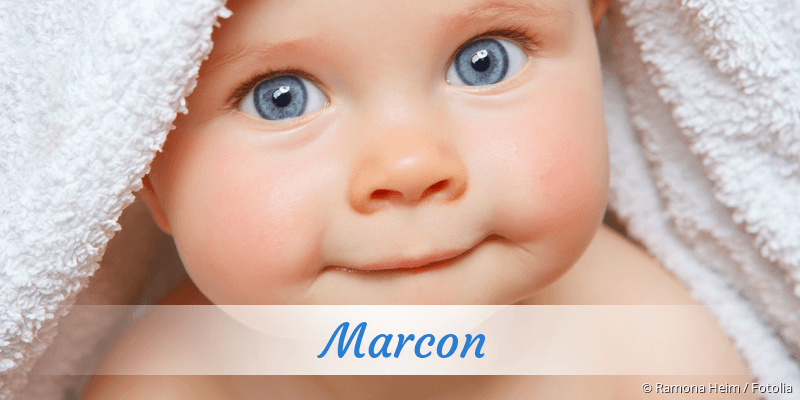 Name Marcon als Bild