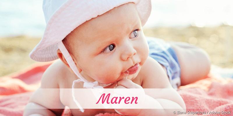 Name Maren als Bild
