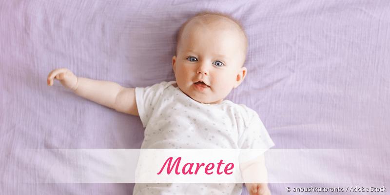 Name Marete als Bild