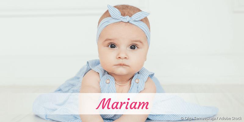 Name Mariam als Bild