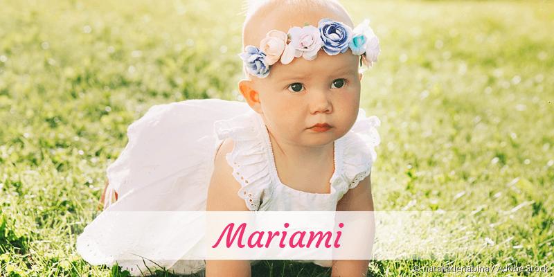 Name Mariami als Bild