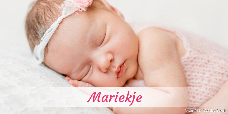 Name Mariekje als Bild