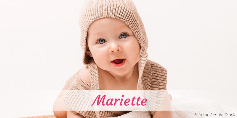 Name Mariette als Bild