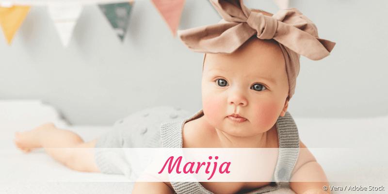 Name Marija als Bild