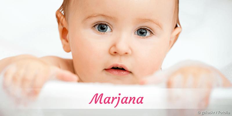 Name Marjana als Bild