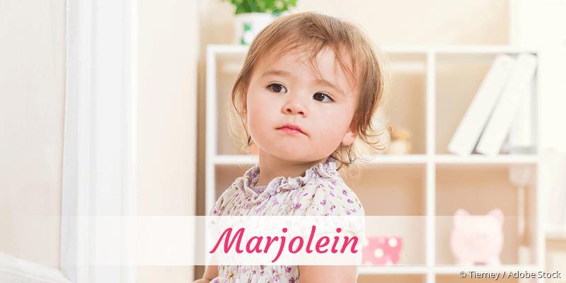 Name Marjolein als Bild