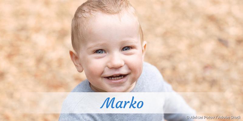 Name Marko als Bild